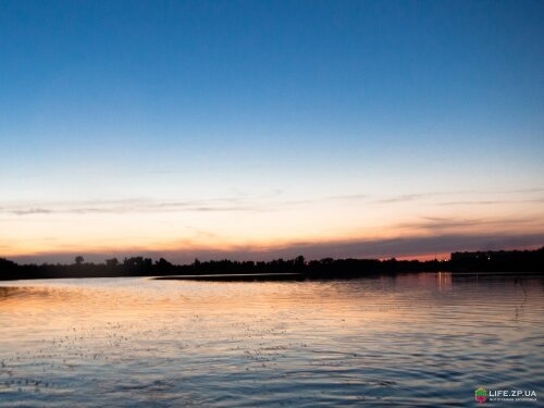 Озеро Кушугум на закате