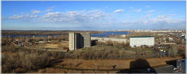 Начало зимы в Запорожье. Вид на город с высотки Южного микрорайона.