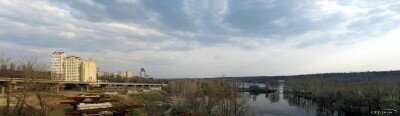 Панорама набережной и строительства новых мостов