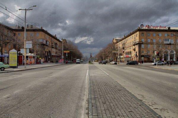 HDR фото - перекресток проспекта Ленина и Маяковского