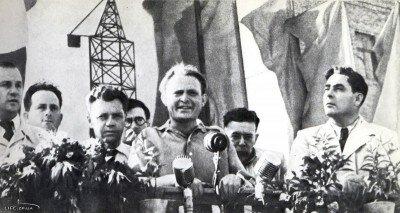 Митинг на Запорожстрое, 1947 год