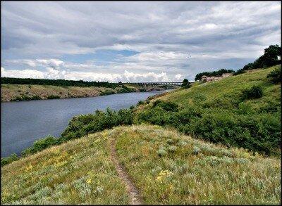 Заповедник Хортица и река Днепр