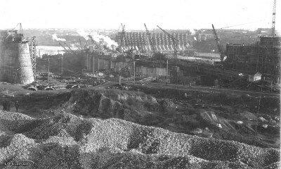 Уникальные фотографии строительства плотины ДнепроГЭС, 1929 год