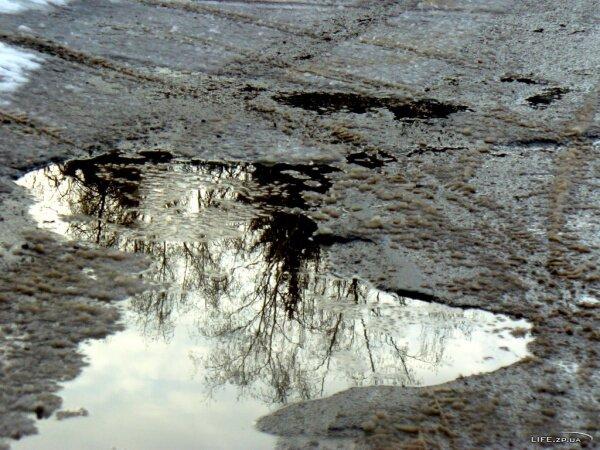 Украинская зима - слякоть, грязь и снег. Январь 2012 года.