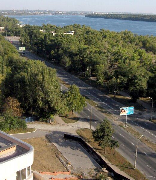 Набережная магистраль с высоты