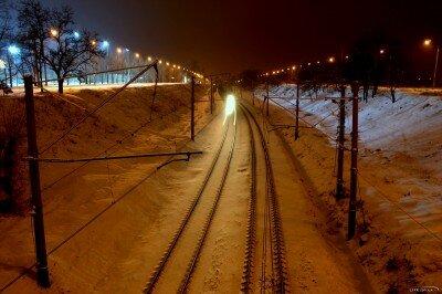 Железная дорога зимой 2012