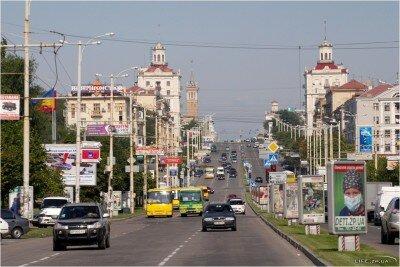 На проспекте Ленина (Август 2009)