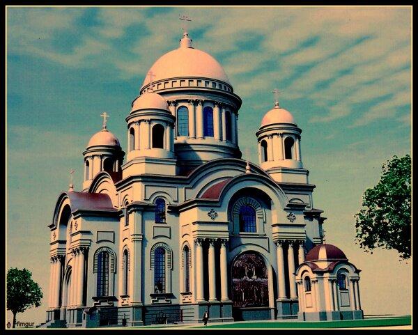 Таким будет Собор Святого Равноапостольного князя Владимира когда достроят