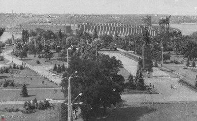 Днепрогэс имени В.И. Ленина в 1973 году (70-е годы)