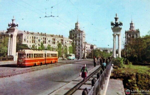 Мост на проспекте Ленина, 1964 год (60-е годы)