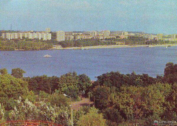 Вид на город с острова Хортица, 1980 год (80-е годы)
