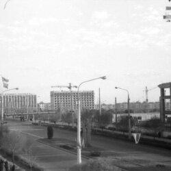 Строительство гостиницы «Интурист» в 1968 году