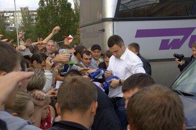 Лидер партии «УДАР» Виталий Кличко в Запорожье