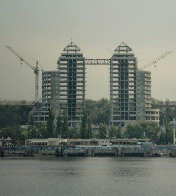 Строительство отеля «Four Points», фотография 2009 года