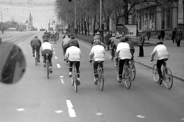 Велодень в Запорожье (1970 год)