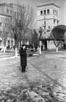Зима 50-х годов на проспекте Металлургов