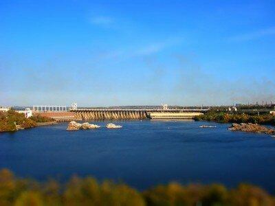 Плотина ДнепроГЭС 2012