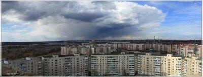 Гроза над городом Запорожье