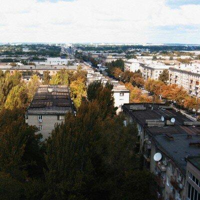 Крыши домов Запорожья