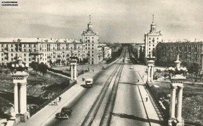 Проспект Ленина в 50-е годы