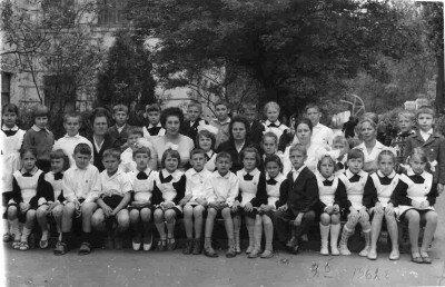 СШ №50, первый учитель Ерохина Мария Петровна и её ученики 9б класса, 1962 год