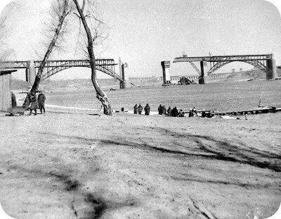 Восстановление моста через Новый Днепр в годы оккупации