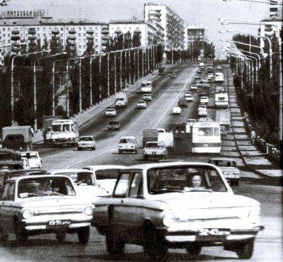 Запорожская дамба начала 70-х годов