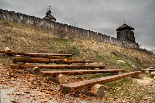 У подножия Запорожской Сечи на острове Хортица