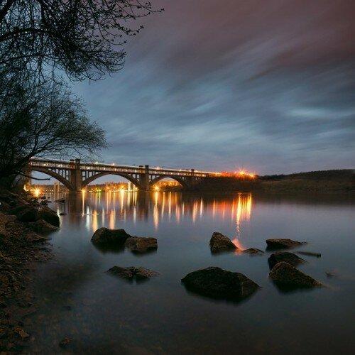 Мосты Преображенского ночью