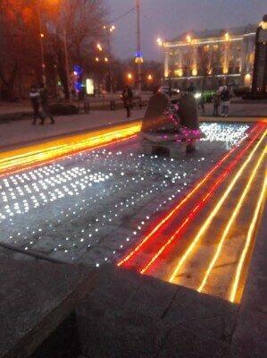 Новогодний фонтан на Бульвар Шевченко