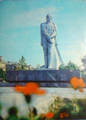 Открытка Министерства связи СССР. 1980-й год. На открытке: памятник Феликсу Дзержинскому.