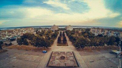 Площадь Фестивальная и бульвар Центральный с высоты