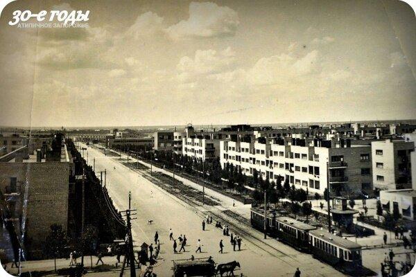 Соцгород до войны (район Металлургов), 30-е годы