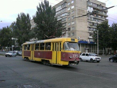 Трамвай № 773, 1985 года выпуска.