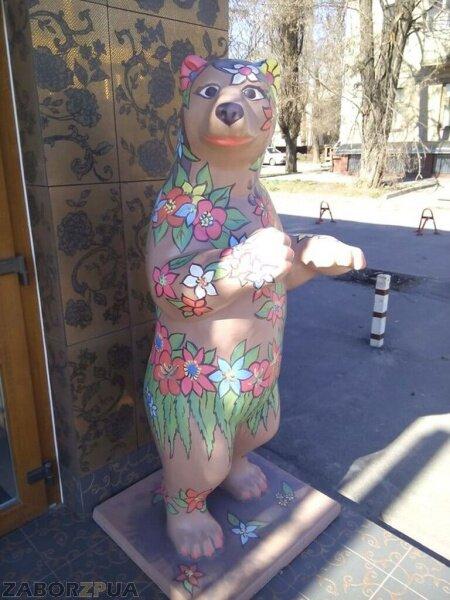 Весенняя медведица на бульваре Шевченко