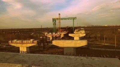 Заброшенная стройка новых запорожских мостов