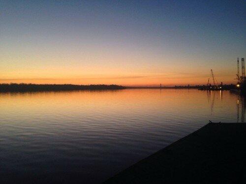 Закат в Дубовке c видом на Днепр