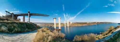 Экскурсия на строительство моста в Запорожье
