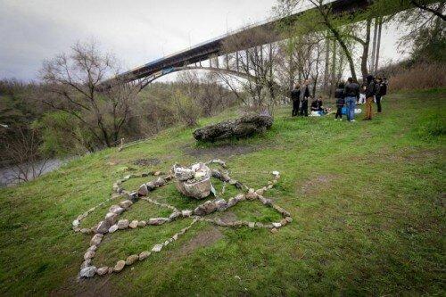 Ленд-арт фестиваль «Хортица», 18 апреля 2015 года.