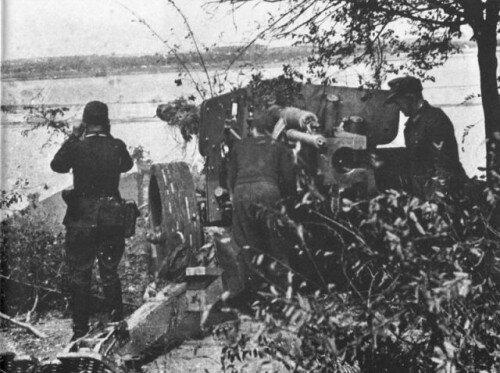 Немцы на Хортице на огневой позиции, 40-е года