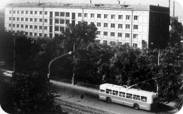 Проспект Ленина (гостиница «Днепр») - ретро фото