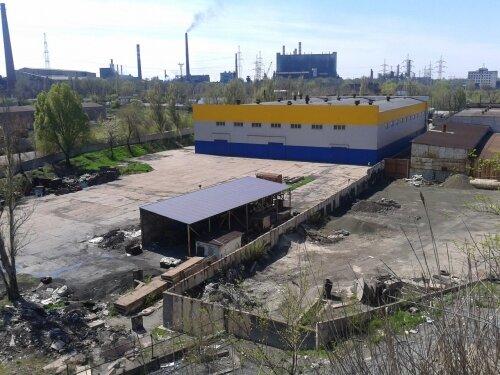 Вид с отвалов «Коксохима» на  «Углекомпозит»