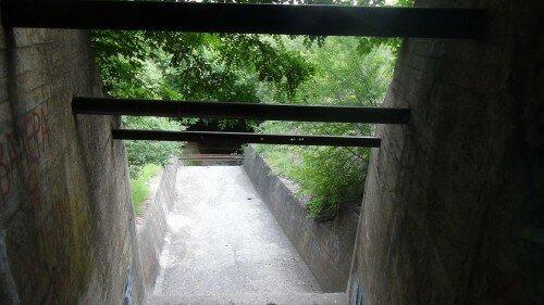 Который, в свою очередь, переходит в узкий, полностью заросший овраг с крутыми склонами, откуда вода стекает в р.Средняя Хортица.