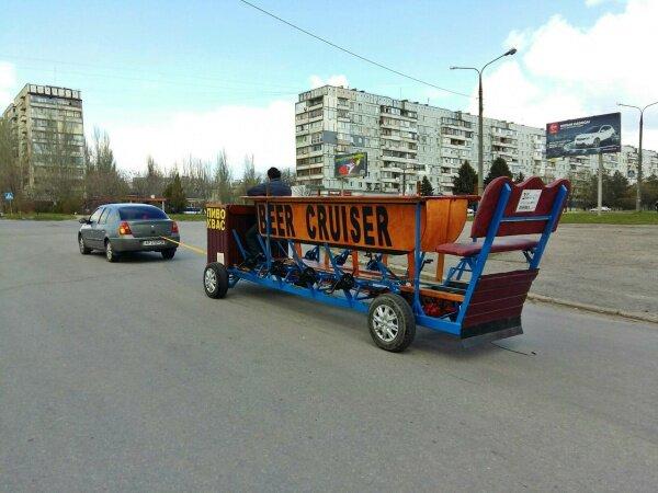 Вело-бар (Beer cruiser) - пиво и квас.