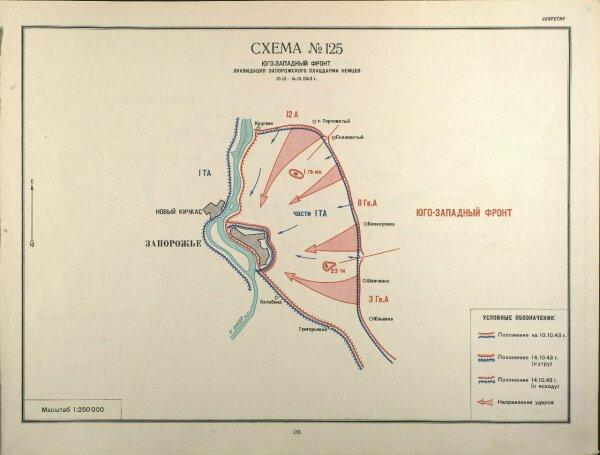 Южный фронт: Ликвидация запорожского плацдарма немцев (10.10.1943 - 14.10.1943 гг)