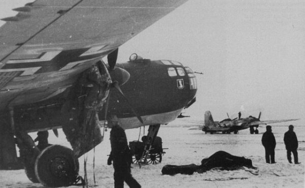Немецкий аэродром в Запорожье (40-е года)
