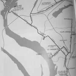 Схема движения трамваев Запорожья (1932 - 1941 года)
