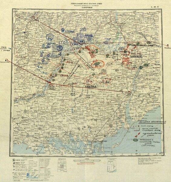 Карта обороны Запорожья, 1941 год