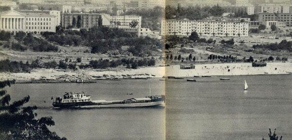 Набережная Запорожья в 1965 году (60-е годы)