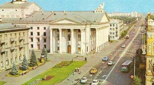 Старая ретро фотография театра имени Магара (раньше Щорса)